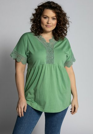 Print T-shirt - pea green