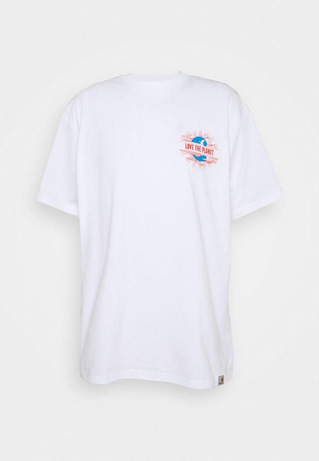 LOVE PLANET - Print T-shirt - white