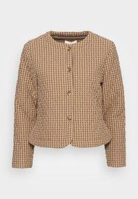 esmé studios - RADA SHORT QUILT JACKET - Light jacket - check tannin/grape leaf - 3