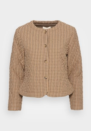 RADA SHORT QUILT JACKET - Light jacket - check tannin/grape leaf