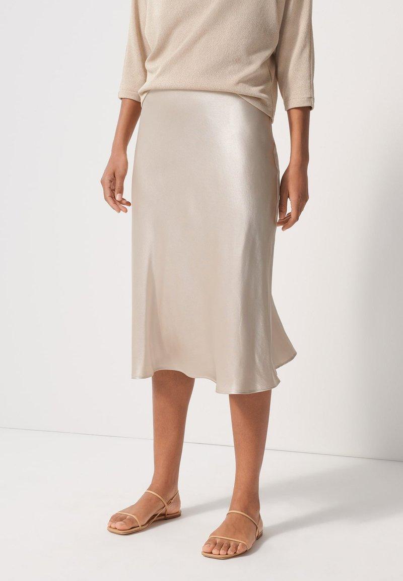 someday. - A-line skirt - beige