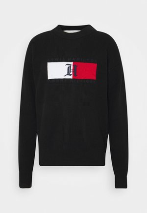 LEWIS HAMILTON UNISEX BOX RIBBED MOCK NECK  - Jumper - black