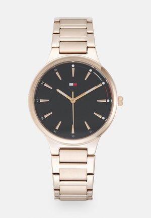 BELLA - Watch - rosegold-coloured/black
