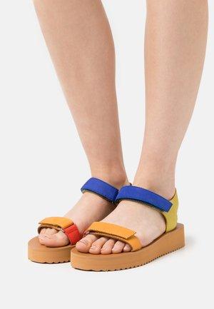 MAGGIE - Platform sandals - crisp marigold/multicolor