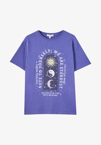 PULL&BEAR - Print T-shirt - purple - 5