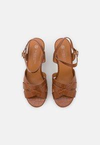 Divine Factory - Platform sandals - camel - 5