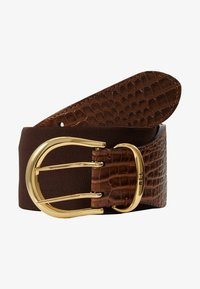 Lauren Ralph Lauren - CROC EMBOSS STRETCH CORNWALL - Waist belt - umber brown - 3