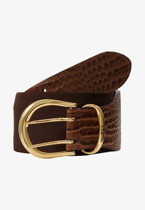 CROC EMBOSS STRETCH CORNWALL - Pásek - umber brown
