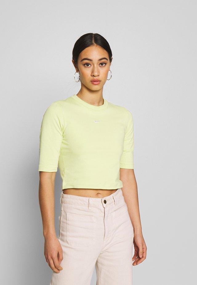 Basic T-shirt - limelight/white