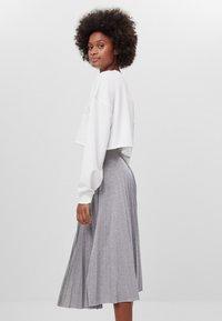 Bershka - A-line skirt - light grey - 3