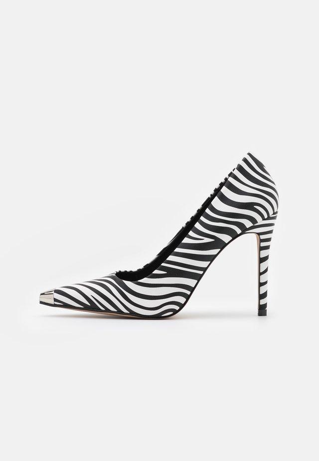 DARYL - Lodičky na vysokém podpatku - white/black