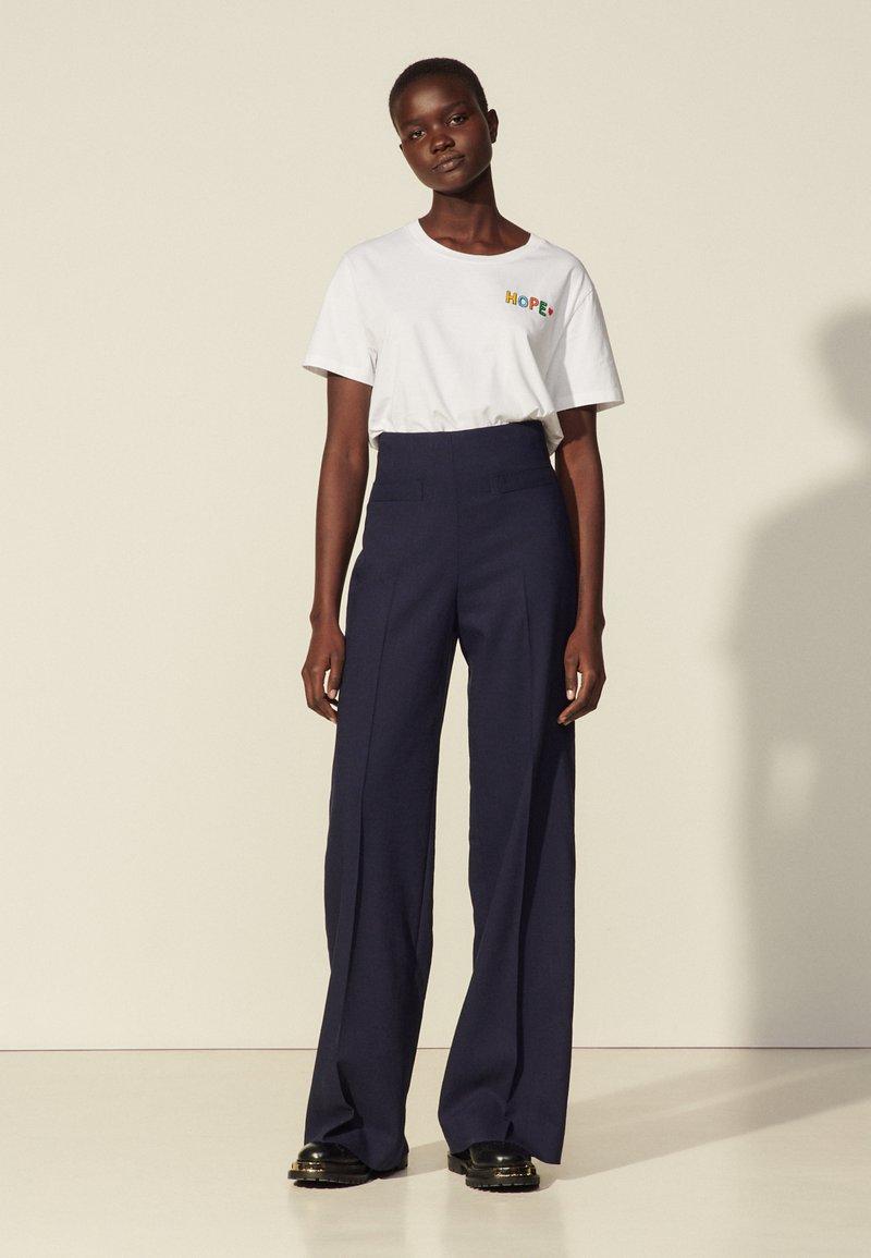 sandro - ENRIQUE - Trousers - marine