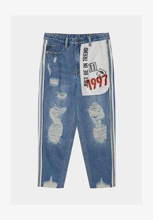 Straight leg jeans - blue denim