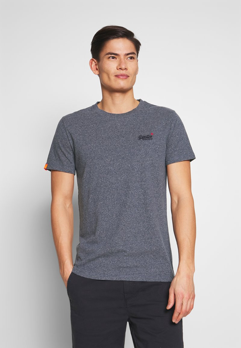 Superdry - VINTAGE CREW - Basic T-shirt - blue grindle