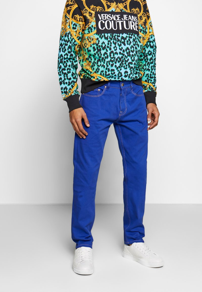 Versace Jeans Couture - MILANO ICON - Jeans a sigaretta - cobalt blue
