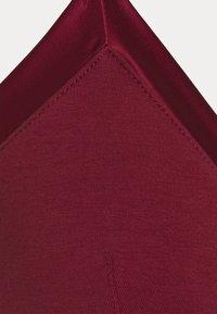 Anna Field - 2 PACK - Trojúhelníková podprsenka - black/dark red - 7