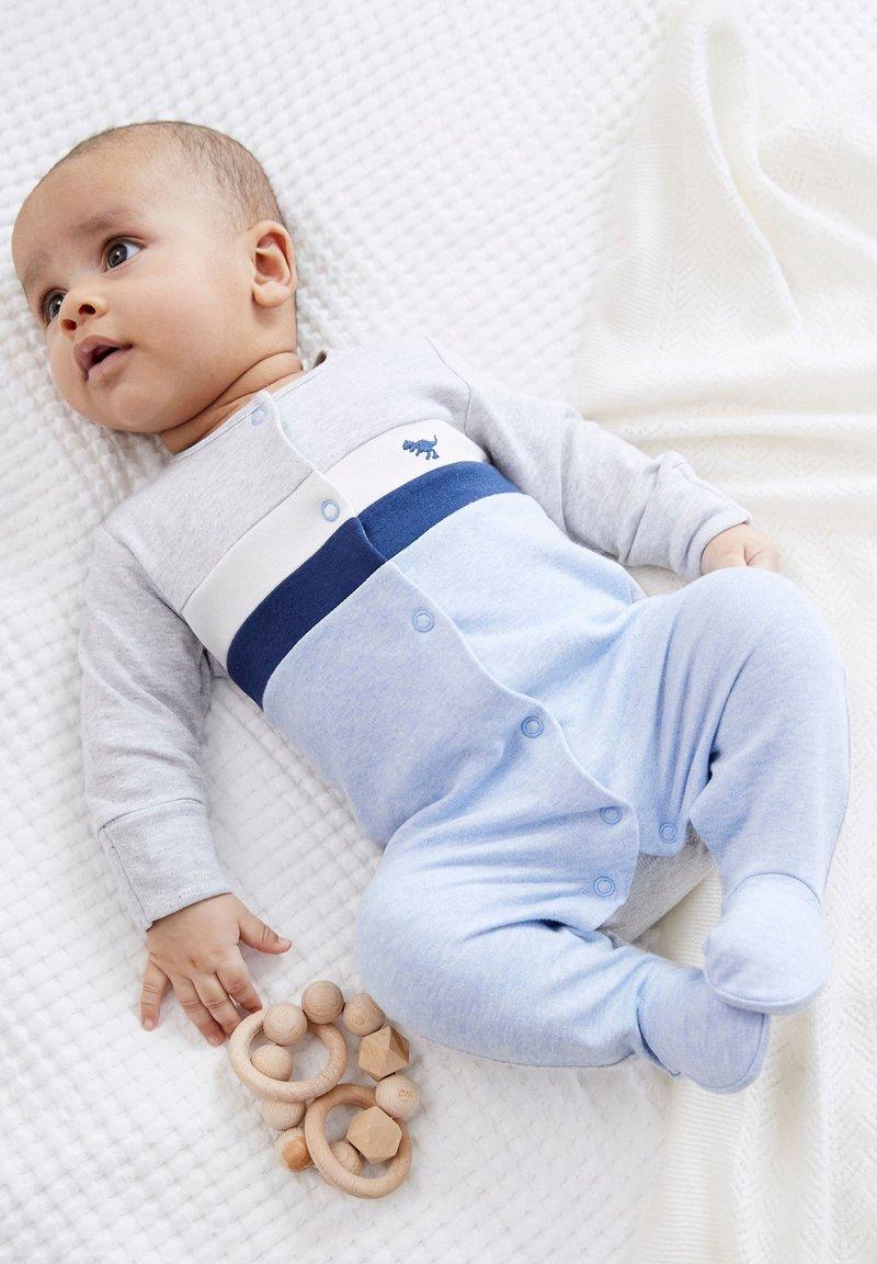 Next - COLOURBLOCK SMART - Sleep suit - blue