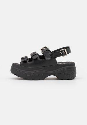 VEGAN HALDIR EXTRA CHUNKY  - Platform sandals - black