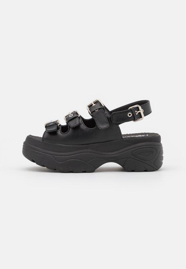 VEGAN HALDIR EXTRA CHUNKY  - Sandály na platformě - black