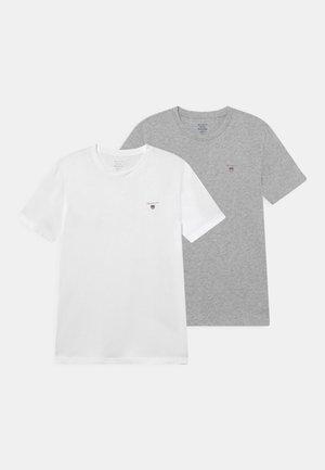 2 PACK - T-shirt basic - light grey melange/white