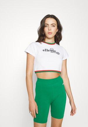 LAURO - Print T-shirt - white