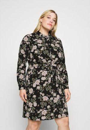 VMSAGA COLLAR SHIRT DRESS - Košilové šaty - black