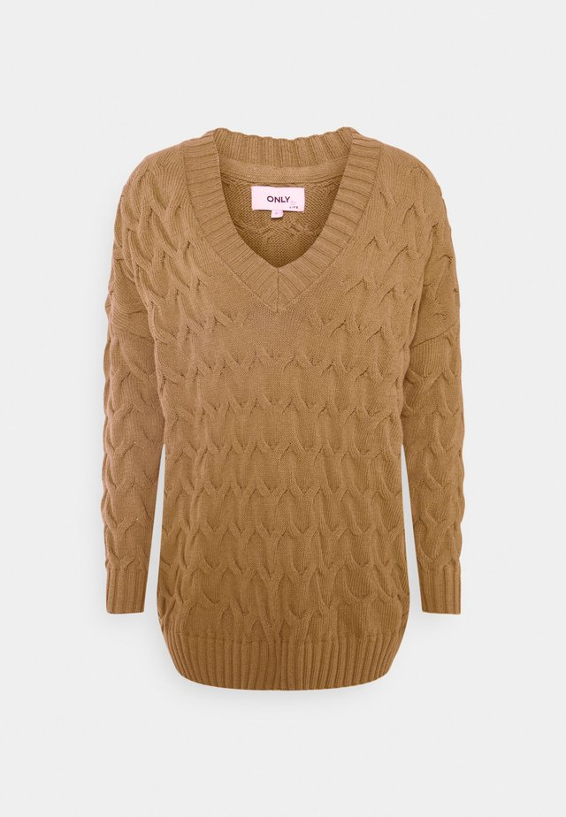 ONLBINA LIFE LONG  - Sweter - toasted coconut
