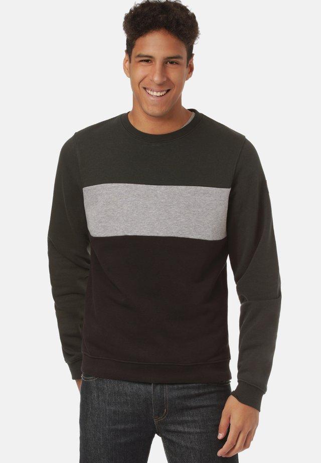 Sweater - jet set/ mid grey heather/ black