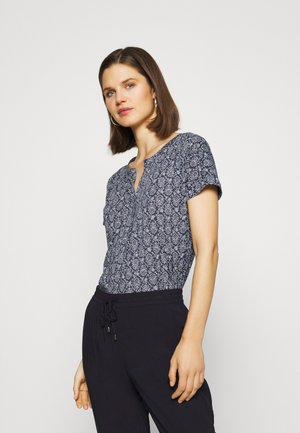 SHORT SLEEVE PLACKET - Blouse - silent sea