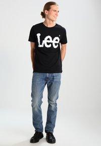 Lee - LOGO TEE - T-shirt con stampa - black - 1