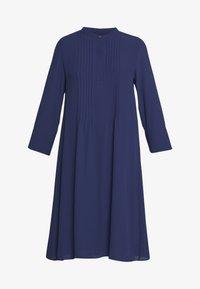Rich & Royal - DRESS WITH PIN TUCKS AND PLISSEE - Denní šaty - deep blue - 4
