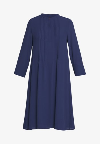 DRESS WITH PIN TUCKS AND PLISSEE