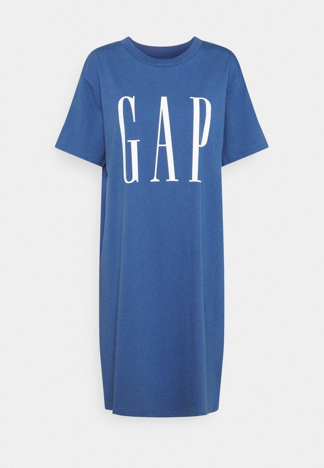 DRESS - Jersey dress - chrome blue