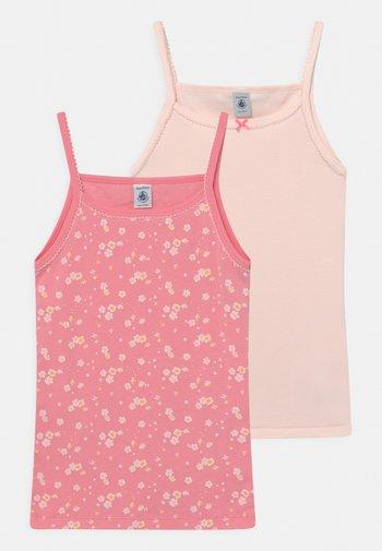 FLORAL PLAIN CHEMISES 2 PACK  - Undershirt - light pink/pink