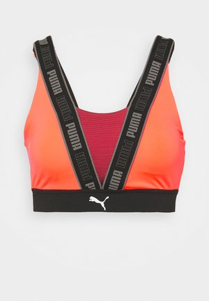 HIGH IMPACT FAST LAUNCH BRA - High support sports bra - lava blast/black