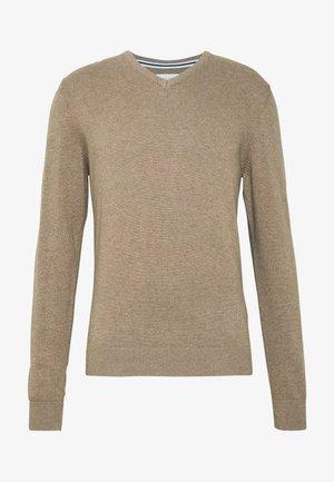Jersey de punto - mottled beige