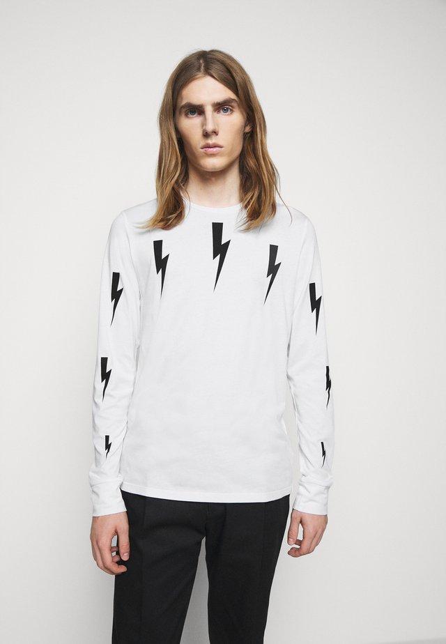 HALO BOLTS PRINT - Maglietta a manica lunga - white/black