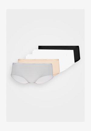 POCKET ECODIM BOXER 5 PACK - Boxerky - black/skin/white/grey/white