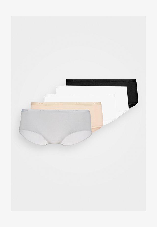 POCKET ECODIM BOXER 5 PACK - Shorty - black/skin/white/grey/white
