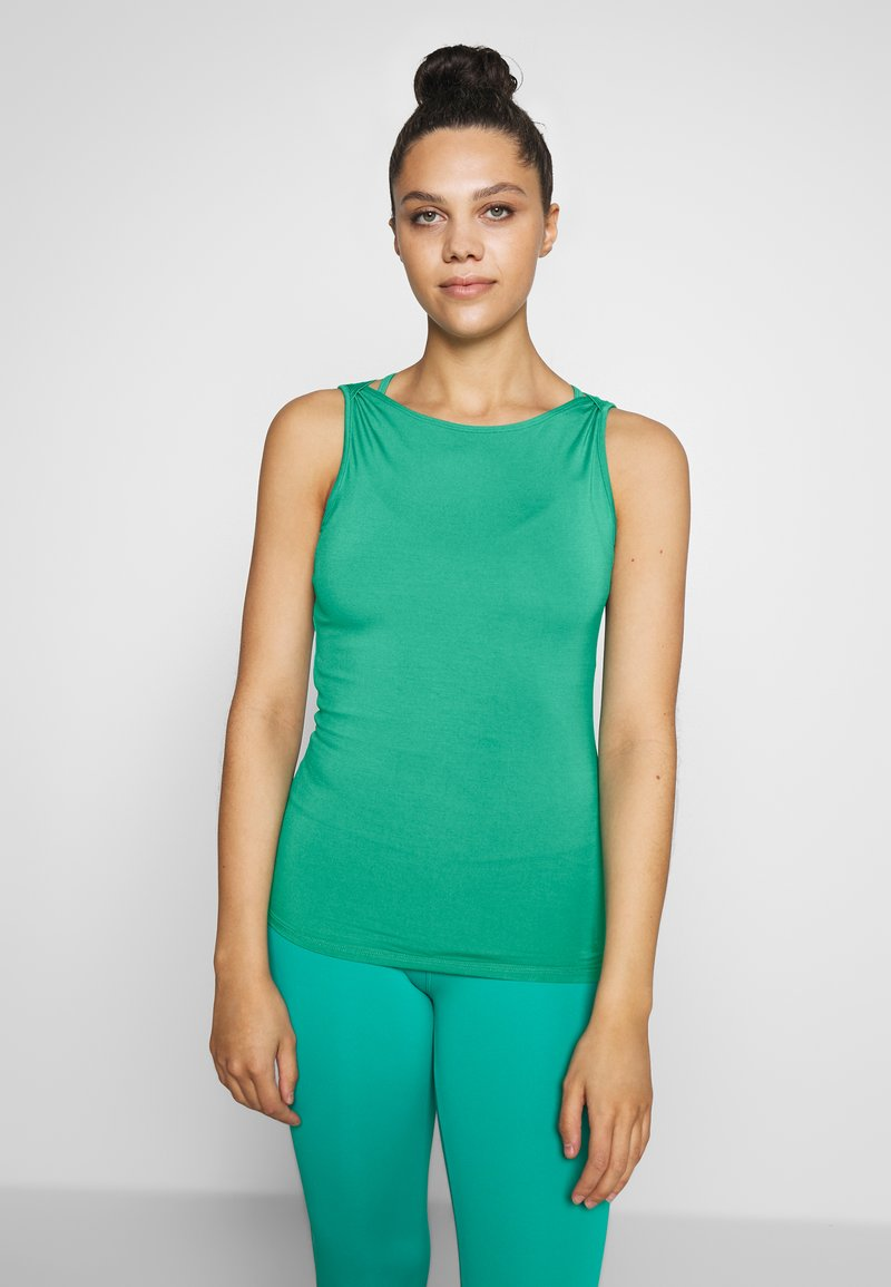 Curare Yogawear - TANK BOAT NECK - Topper - green lagoon