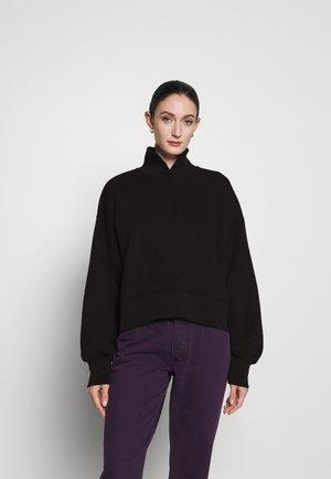 LILOU COLLAR - Sweatshirt - black