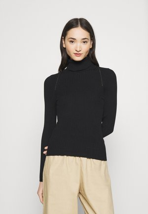 ONLELLY ROLLNECK - Strikkegenser - black