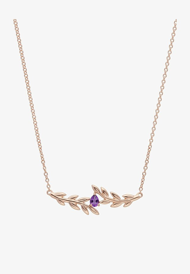 O LEAF AMETHYST - Necklace - rose