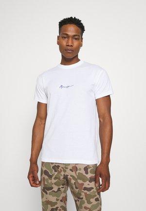 ESSENTIAL REGULAR BASIC TEE - T-shirt - bas - white