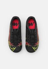 Nike Performance - JR MERCURIAL VAPOR 14 ACADEMY FG/MG UNISEX - Kopačky lisovky - black/cyber/off noir - 3