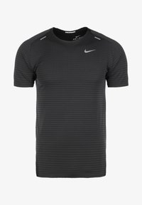 Nike Performance - TECH ULTRA LAUFSHIRT HERREN - Print T-shirt - black/dark smoke grey - 0