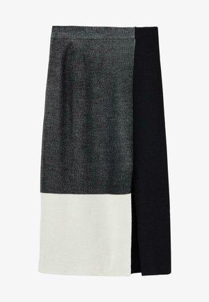 A-line skirt - schwarz black/white