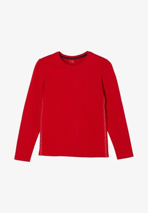 MIT ZIERTAPE - Long sleeved top - red