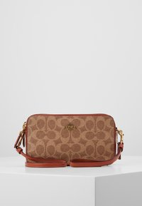 Coach - COLORBLOCK COATED SIGNATURE KIRA CROSSBODY - Umhängetasche - tan rust - 0