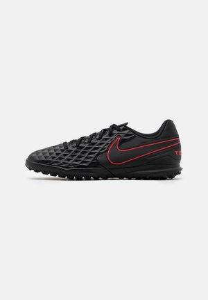 TIEMPO LEGEND 8 CLUB TF - Chaussures de foot multicrampons - black/dark smoke grey/chile red